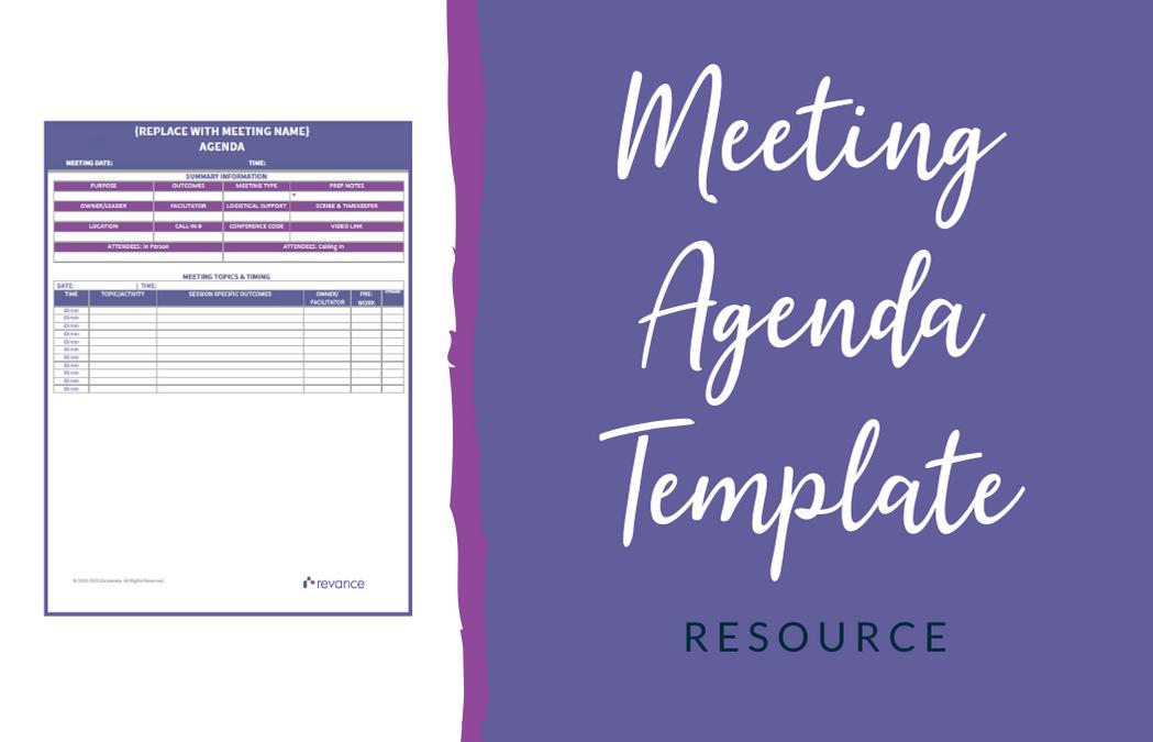 Revance – Meeting Agenda Template